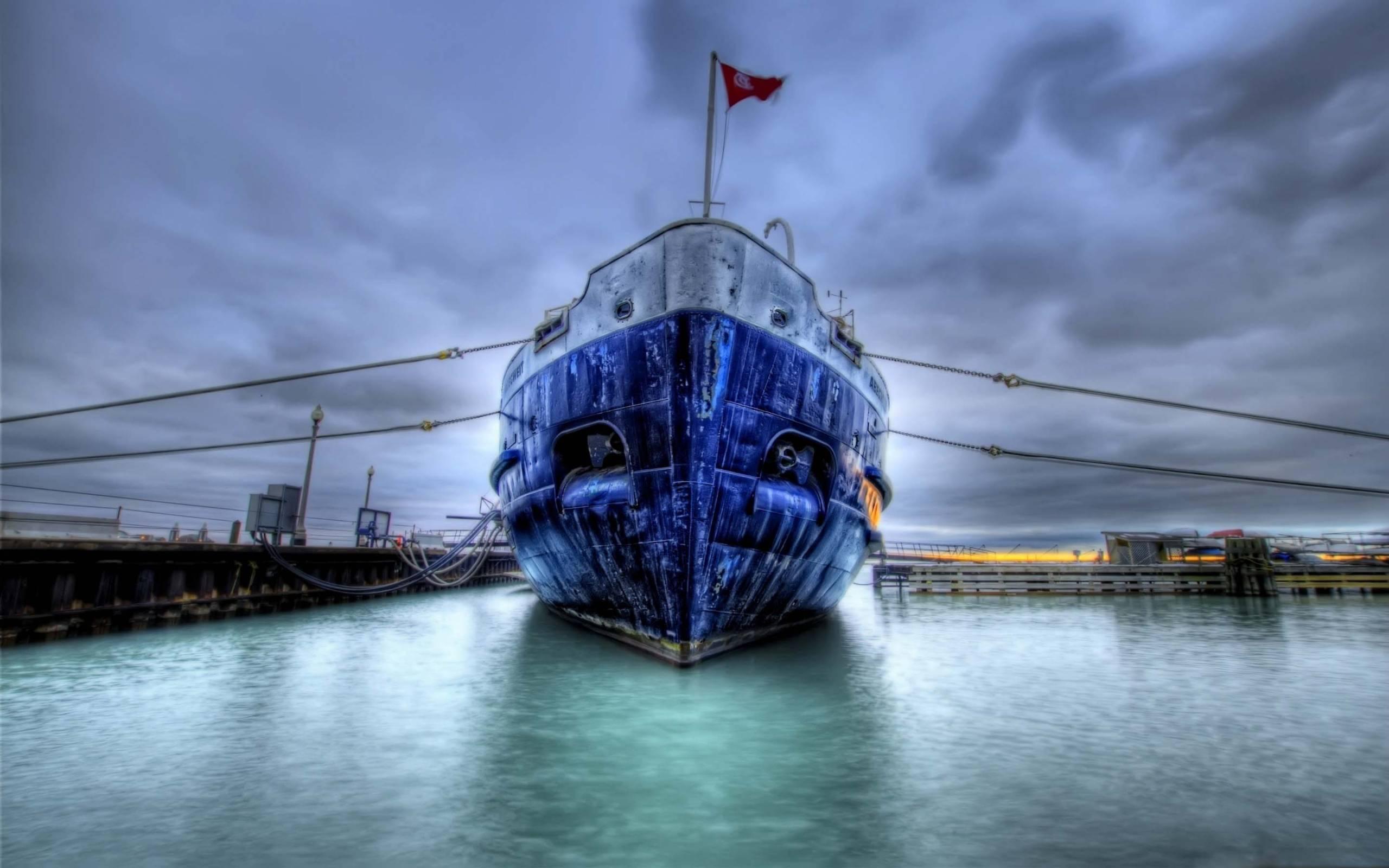 обои старое судно, флаг, порт картинки фото