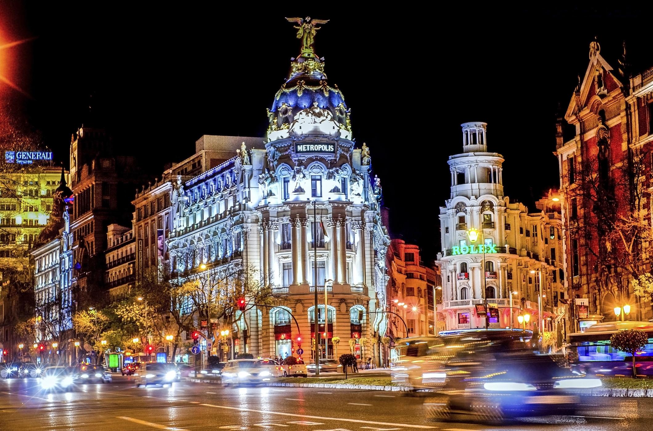 обои Испания, Мадрид, город, ночь картинки фото