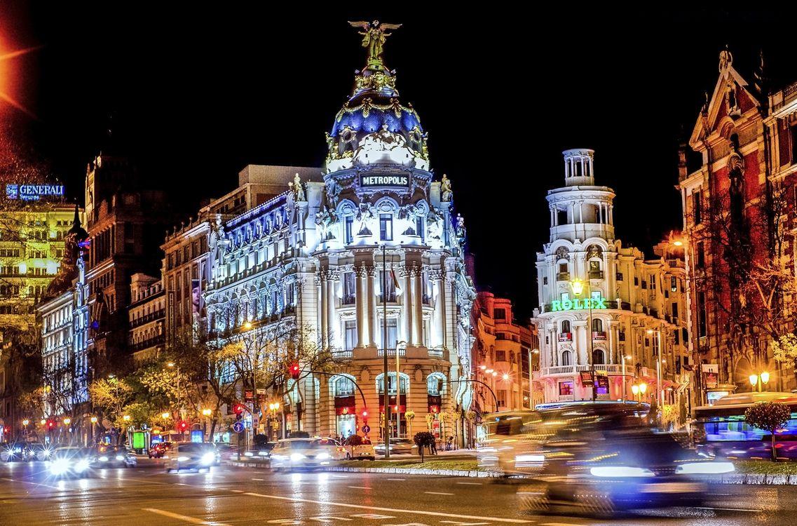 Фото бесплатно Испания, Мадрид, город, ночь, город