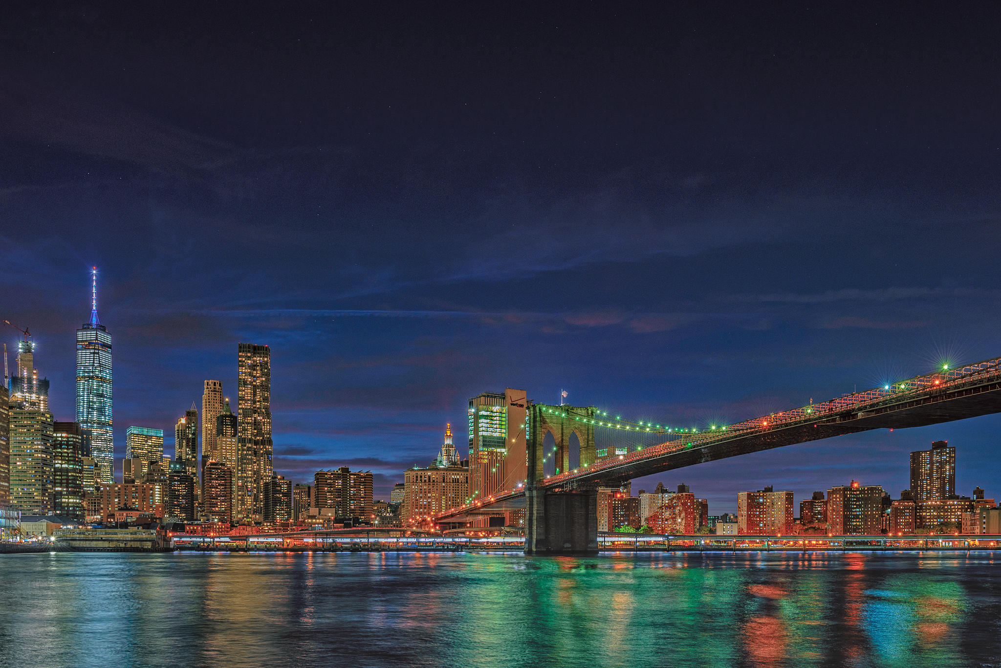 Manhattan, Brooklyn Bridge, One World Trade Center