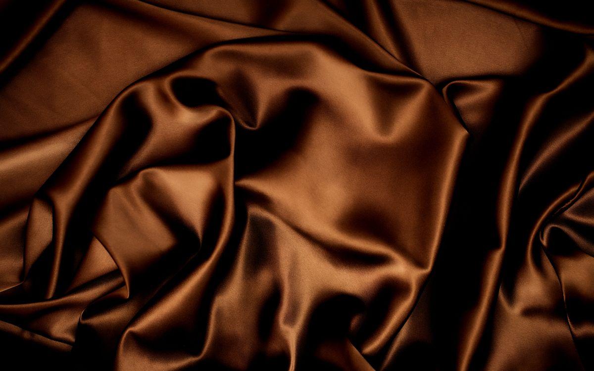 Обои материал, шелк, цвет, шоколад, складки картинки на телефон