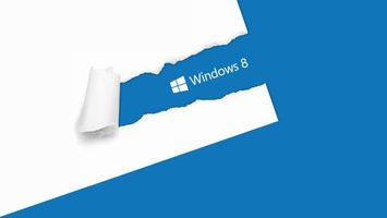 Бесплатные фото Windows 8,постер,надпись,разорванная бумага