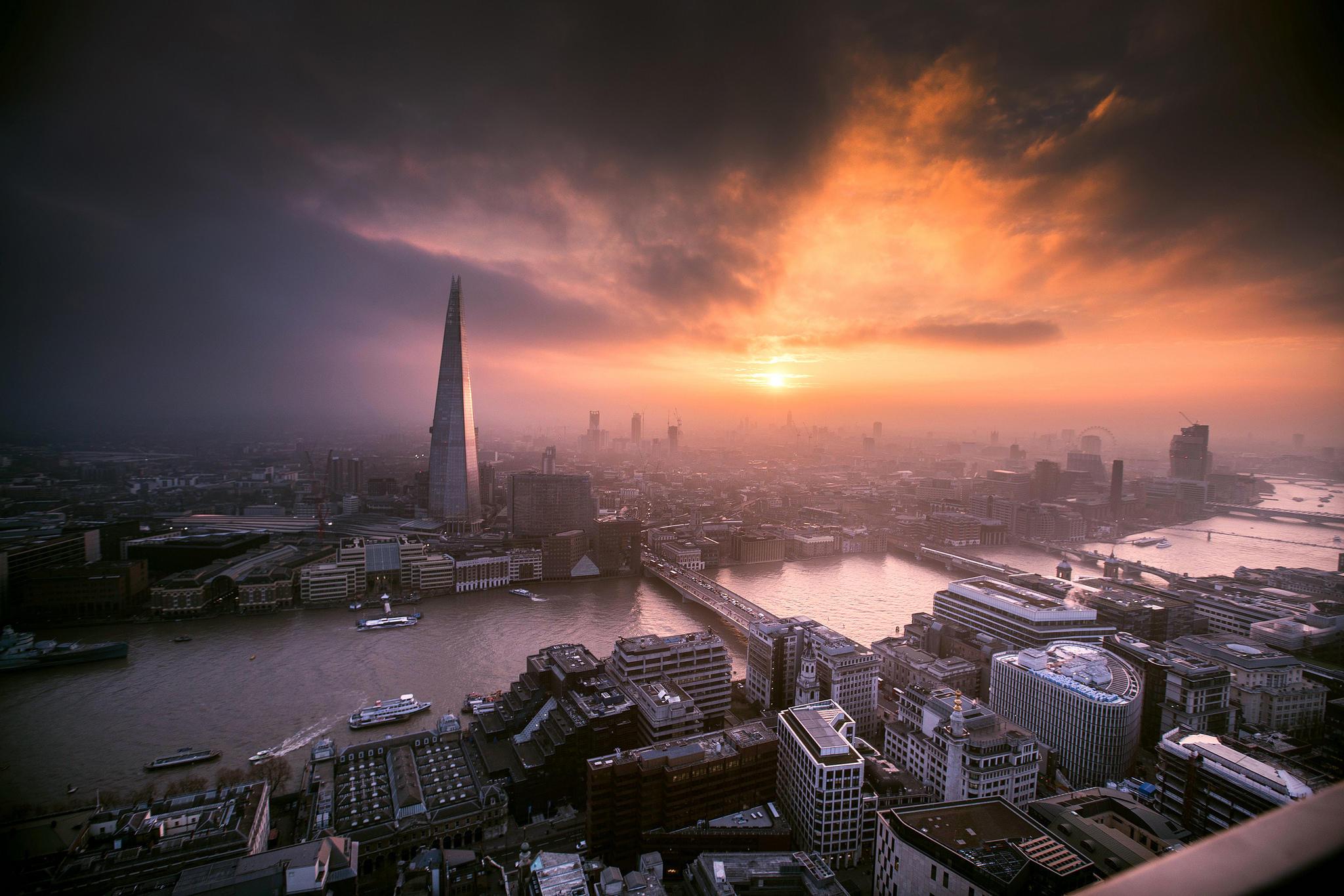 обои London, Лондон, закат картинки фото