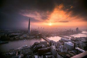 Photo free London, sunset