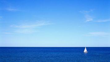 Бесплатные фото море,яхта,парус,белый,горизонт,небо