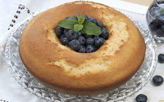 Заставки блюдо, пирог, ягода, черника, листья мяты