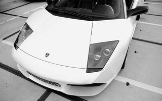 Фото бесплатно ламборджини, белая, фары
