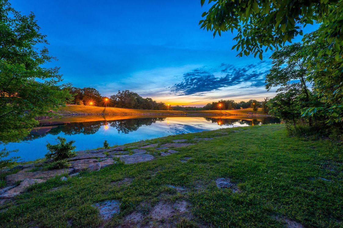 Free photo Missouri, shore, trees - to desktop