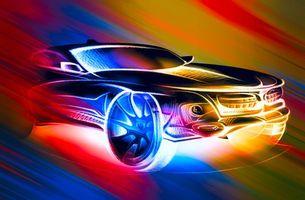 Заставки автомобиль,машина,темный цвет,свечение,абстракция,art