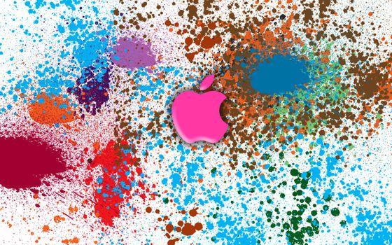 Бесплатные фото эппл,краски,цвета,бренд