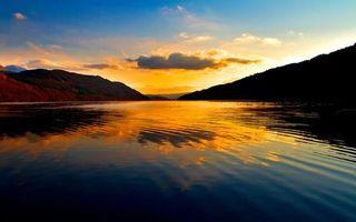 Фото бесплатно озеро, отражение, облака