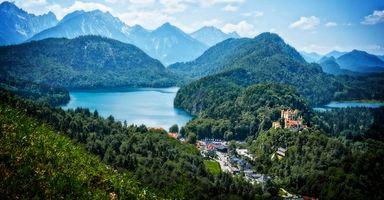 Фото бесплатно Швангау, Германия, горы