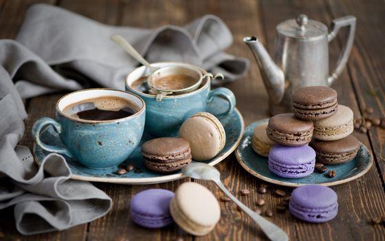 Фото бесплатно чашки, кофе, ситечко