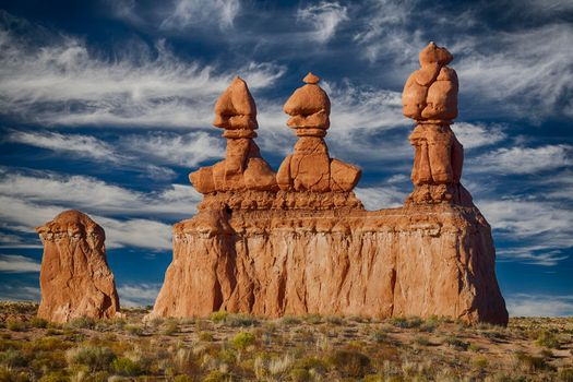 Фото бесплатно Goblin Valley State Park, Utah, скалы