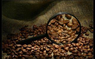 Фото бесплатно кофе, лупа, зерна