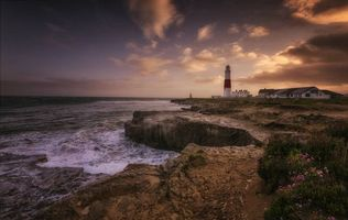 Бесплатные фото Portland Head Light,Cape Elizabeth,Maine,маяк,залив Мэн,побережье,закат