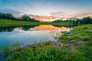 Фото бесплатно Миссури, пруд, берег