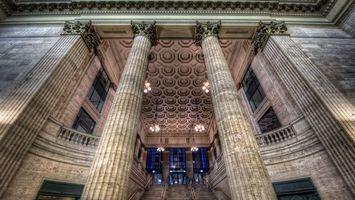 Фото бесплатно здание, колонны, архитектура