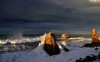 Бесплатные фото берег,океан,волны,скалы,брызги,пена