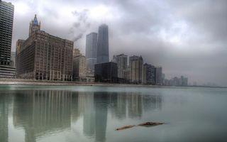 Бесплатные фото море,побережье,дома,здания,небоскребы,облака