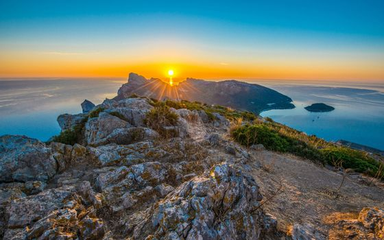 Бесплатные фото закат солнца,гора,высота,небо,красота