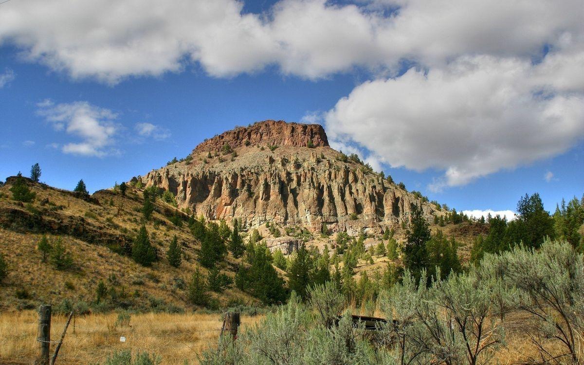 Фото бесплатно гора, скалы, кустарник - на рабочий стол