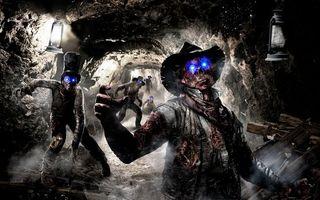 Бесплатные фото тонель,шахта,фонари,зомби,глаза,свечение