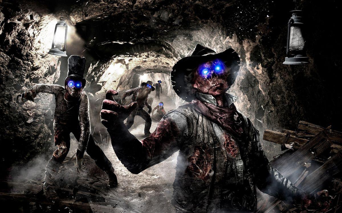 Фото бесплатно тонель, шахта, фонари, зомби, глаза, свечение, игры