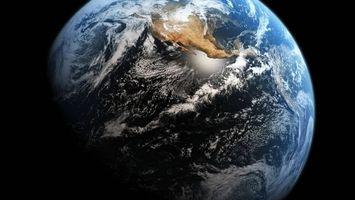 Фото бесплатно планета Земля, вид из космоса