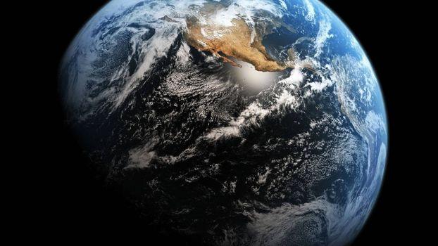 Заставки планета Земля, вид из космоса