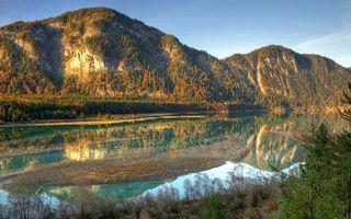 Бесплатные фото река,отражение,трава,деревья,горы,небо