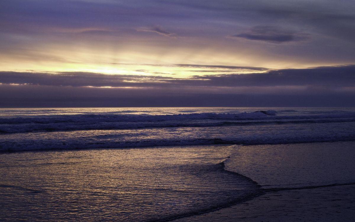 Фото бесплатно вечер, море, волны, горизонт, небо, облака, закат, пейзажи