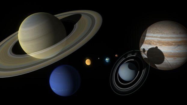Фото бесплатно астероиды, космос, вселенная