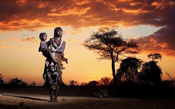 Фото бесплатно женщина, ребенок, индейцы