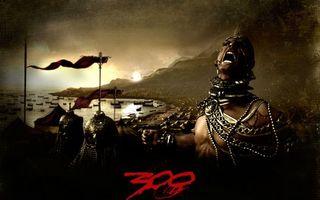Фото бесплатно 300 спартанцев, царь, ксеркс
