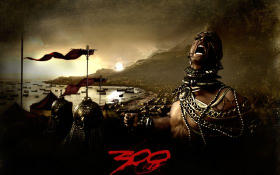 Photo free 300 Spartans, King, Xerxes