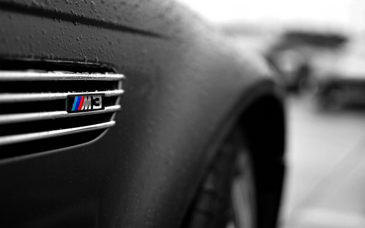 Фото бесплатно бмв м3, черная, решетка, кузов, капли, вода, машины