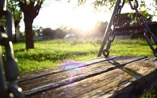 Photo free swing, boards, chain