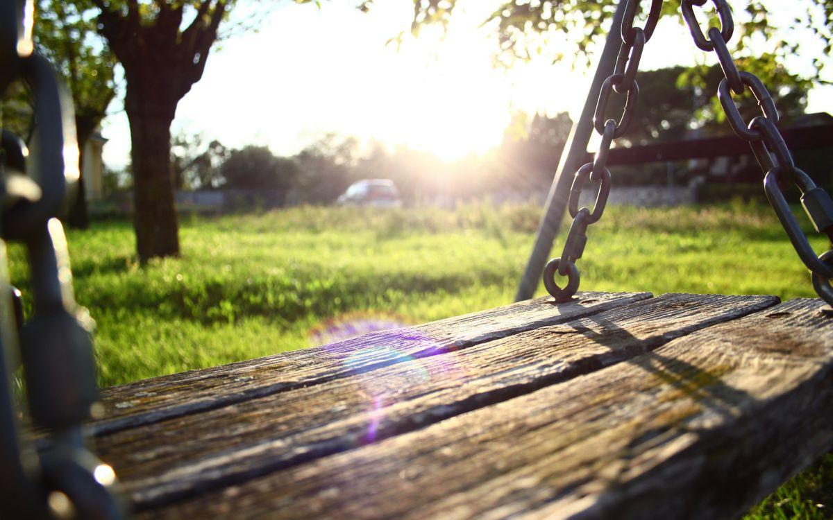 Free photo swing, boards, chain - to desktop