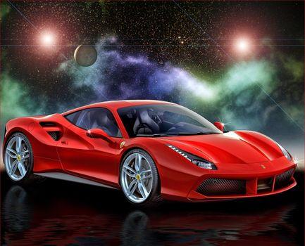 Бесплатные фото 2015 Ferrari 488 GTB,автомобиль,машина