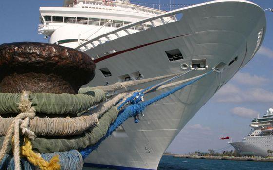 Фото бесплатно море, порт, круизные лайнеры