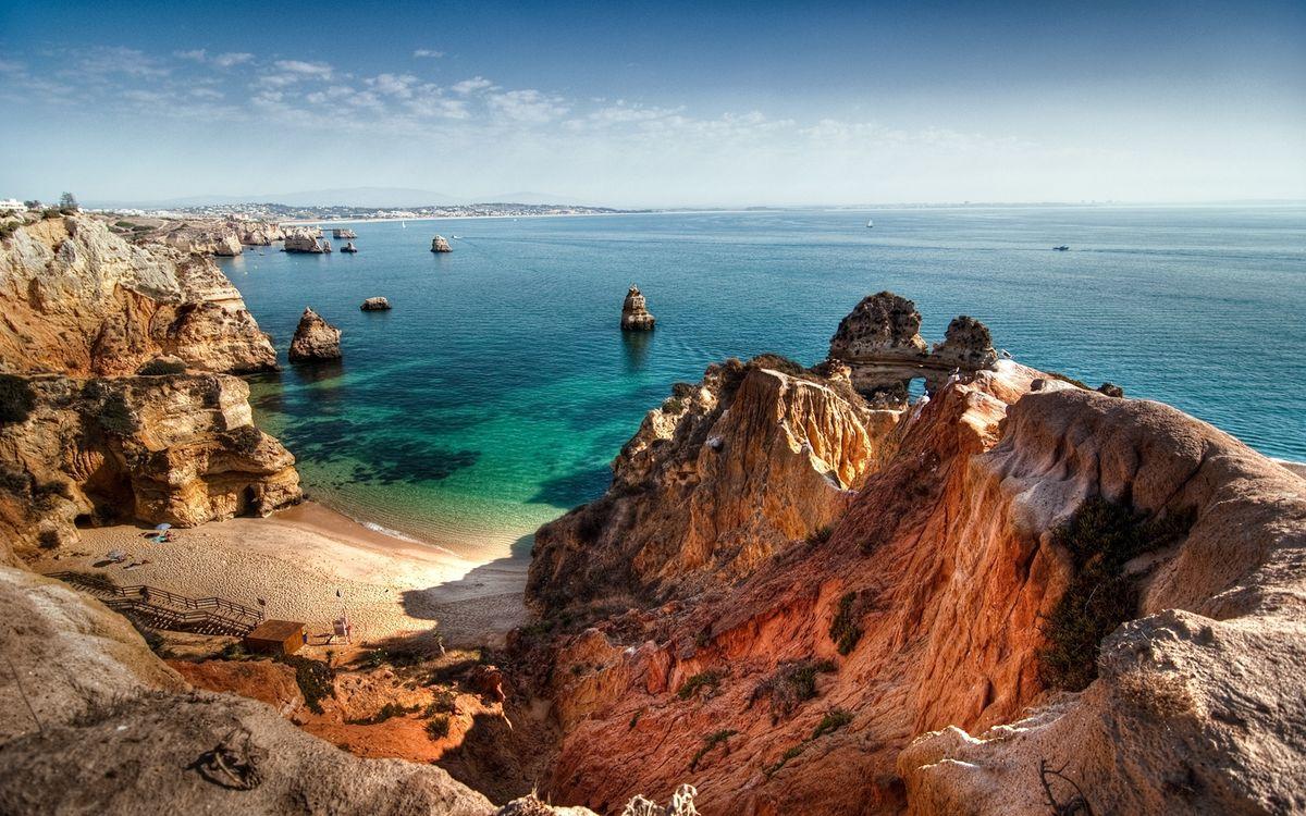 Фото бесплатно берег, лестница, пляж - на рабочий стол