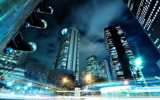Бесплатные фото ночной город, мегаполис, Нью-Йорк