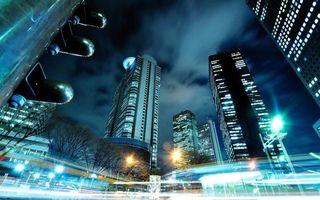 Фото бесплатно ночной город, мегаполис, Нью-Йорк