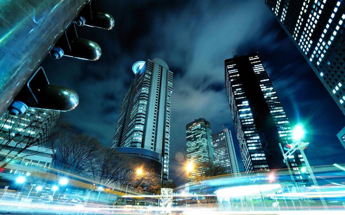 Обои ночной город, мегаполис, Нью-Йорк картинки на телефон
