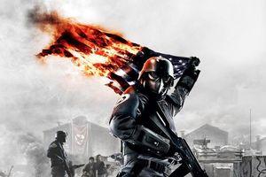Фото бесплатно солдат, сжигает, американский флаг, война, политика, оружие, хаос, ненависть, величие, Россия