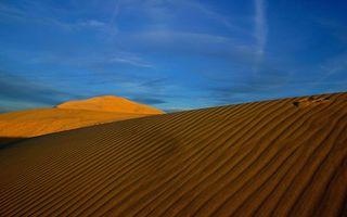 Фото бесплатно пустыня, песок, волны, дюны, барханы, небо