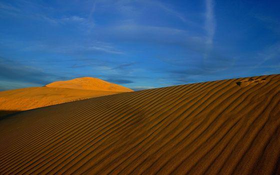 Photo free desert, sand, waves