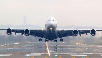 Фото бесплатно самолет, шасси, взлет