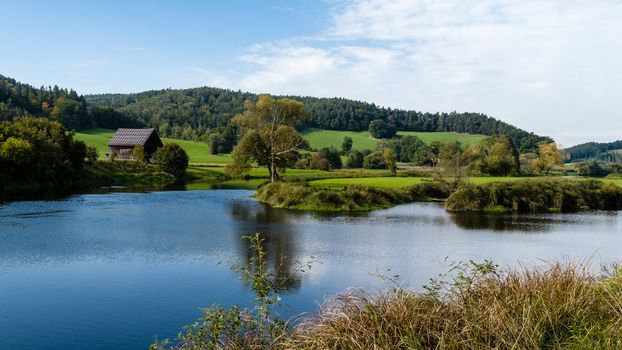Screensaver channel of the river bach, germany at desk free